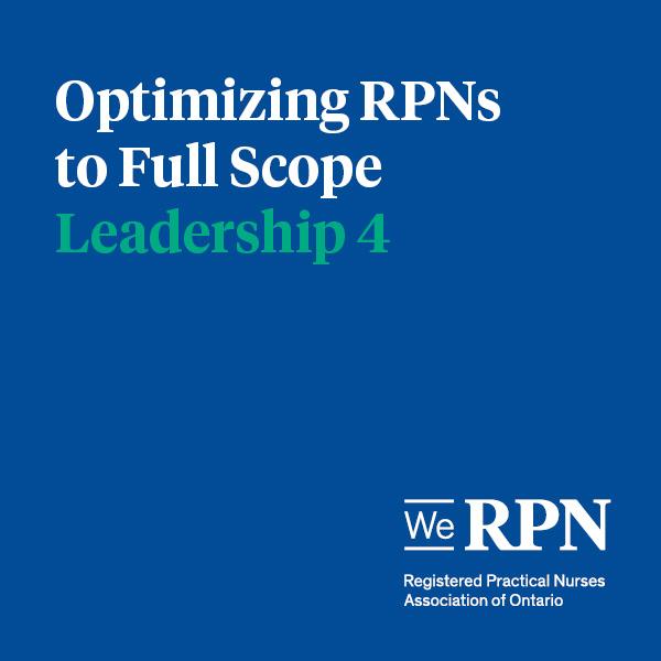 Leadership 4 – Optimizing the scope of RPNs